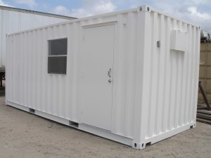 Shipping Container Office with door and window