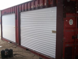 rollup doors on container