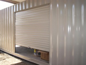 roll up door on shipping container