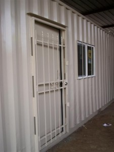 custom container security door and windows