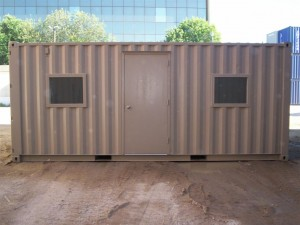 door and windows added to shipping container