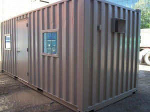 shipping container door and windows
