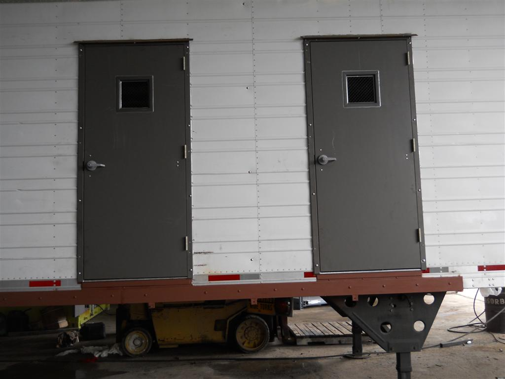 custom doors in steel container