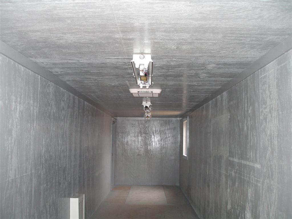 custom electrical in steel shipping container