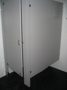 Bathroom Stall in Shipping Container