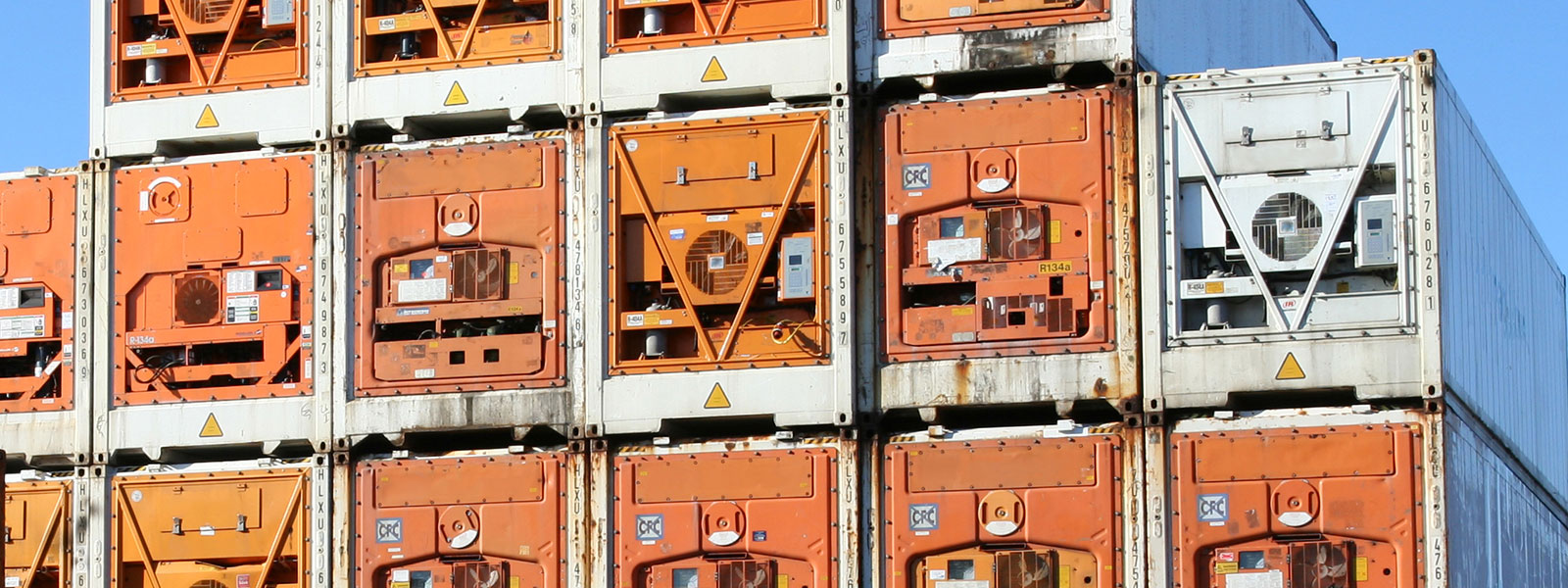 Refrigerated Containers in a yard