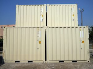 10 ft container, 10 foot containers stacked on yard