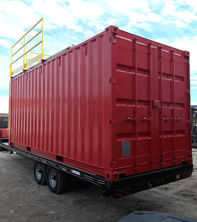 Mobile-Confined-Space-Training-Container, modified training container