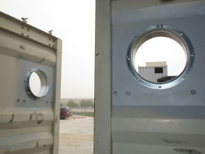 mobile confined space training container inside